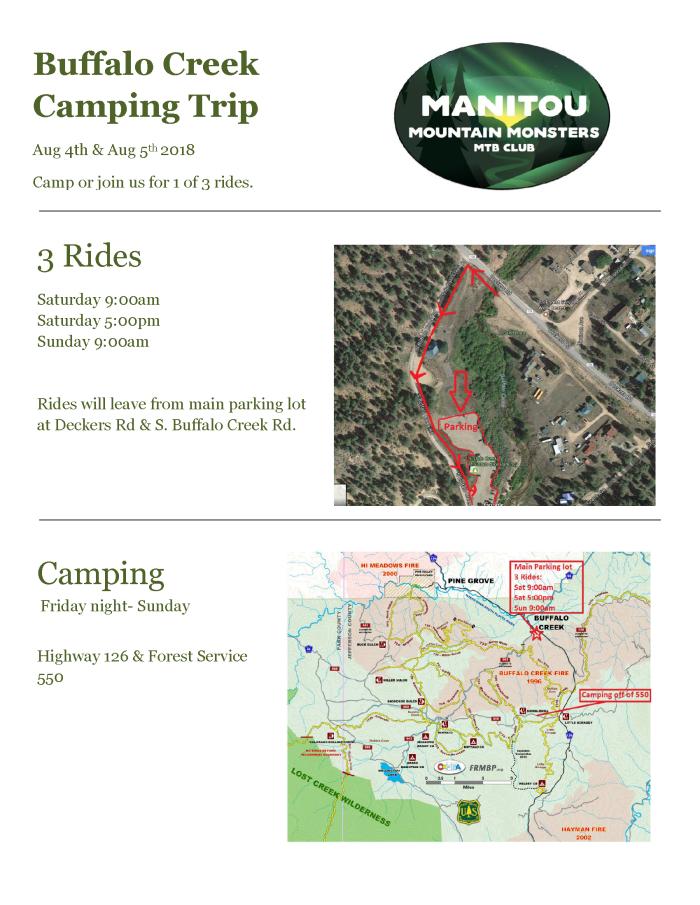 Buffalo Creek Camping Trip 2018