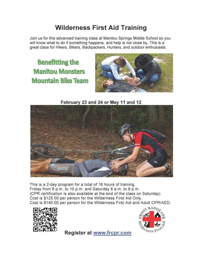 Wilderness First Aid Training Flyer 2018