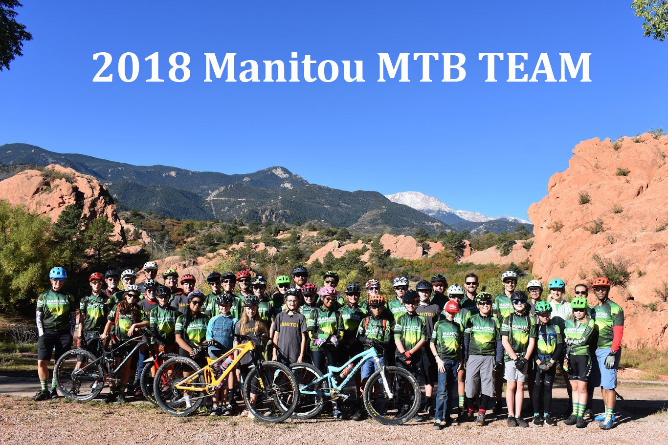 Entire Team-2018 Manitou MTB with Coaches team 2
