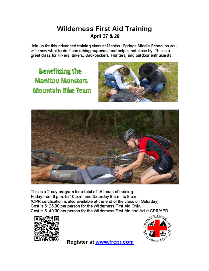 Wilderness First Aid Training Flyer 2019